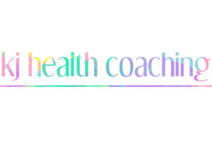 KJ Health Coaching logo concept
